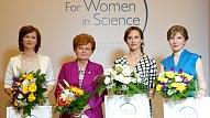"""Trim pētniecēm pasniegta stipendija """"Sievietēm zinātnē"""""""